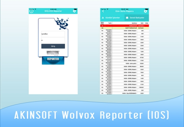 AKINSOFT Wolvox Reporter (IOS) 2.02.02